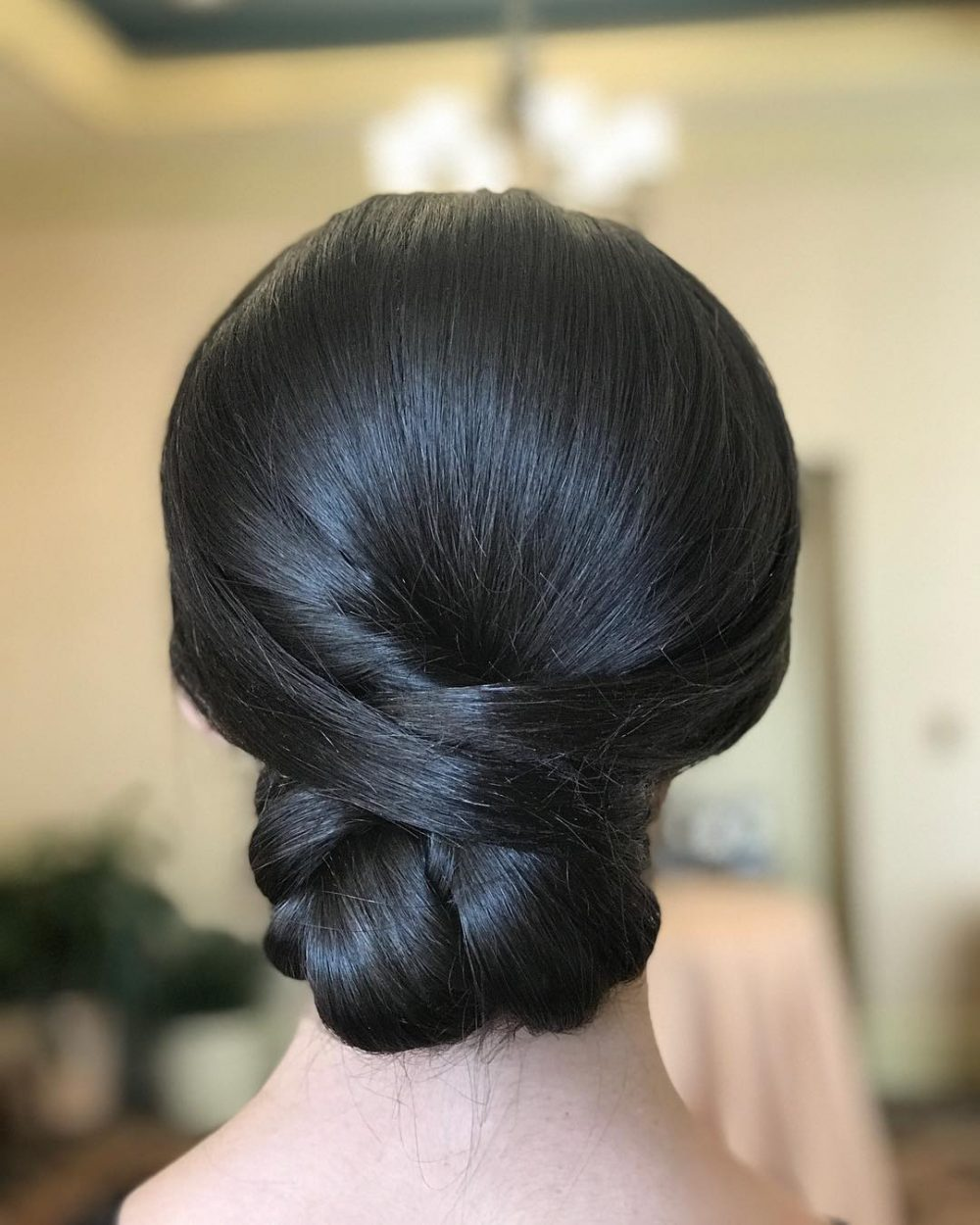Polished Low Chignon hairstyle