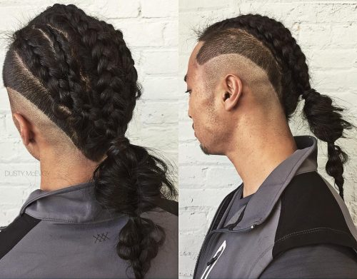 Ponytail braids for men