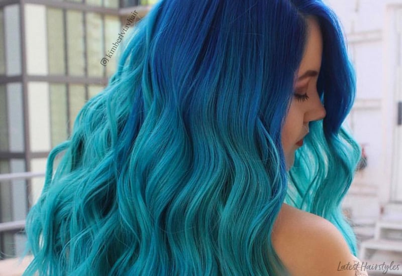 Blonde Ombre Hairstyles Colors: 25 Examples Of Blue Ombre Hair Colors Trending In 2019