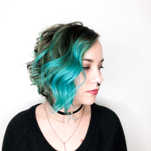 Picture of a powerful yet feminine edgy hairstyle