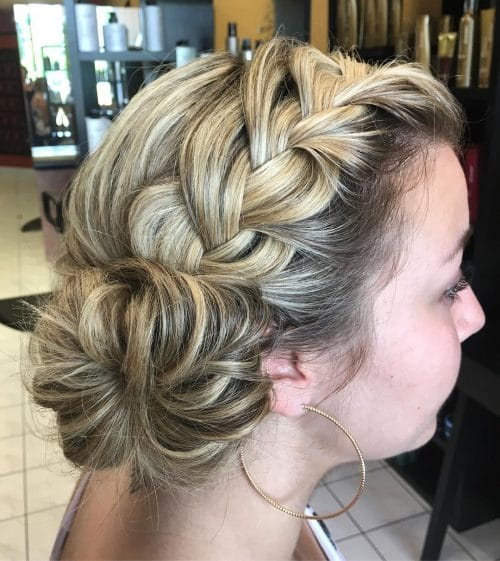 Pulled Apart French Braid hairstyle