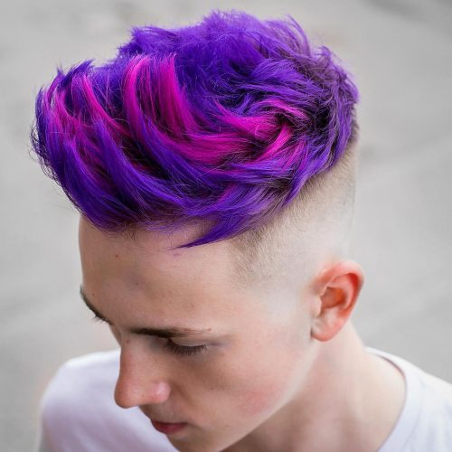 A cool purple and pink hair color