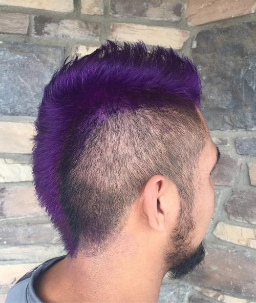 Purple Mohawk hairstyle