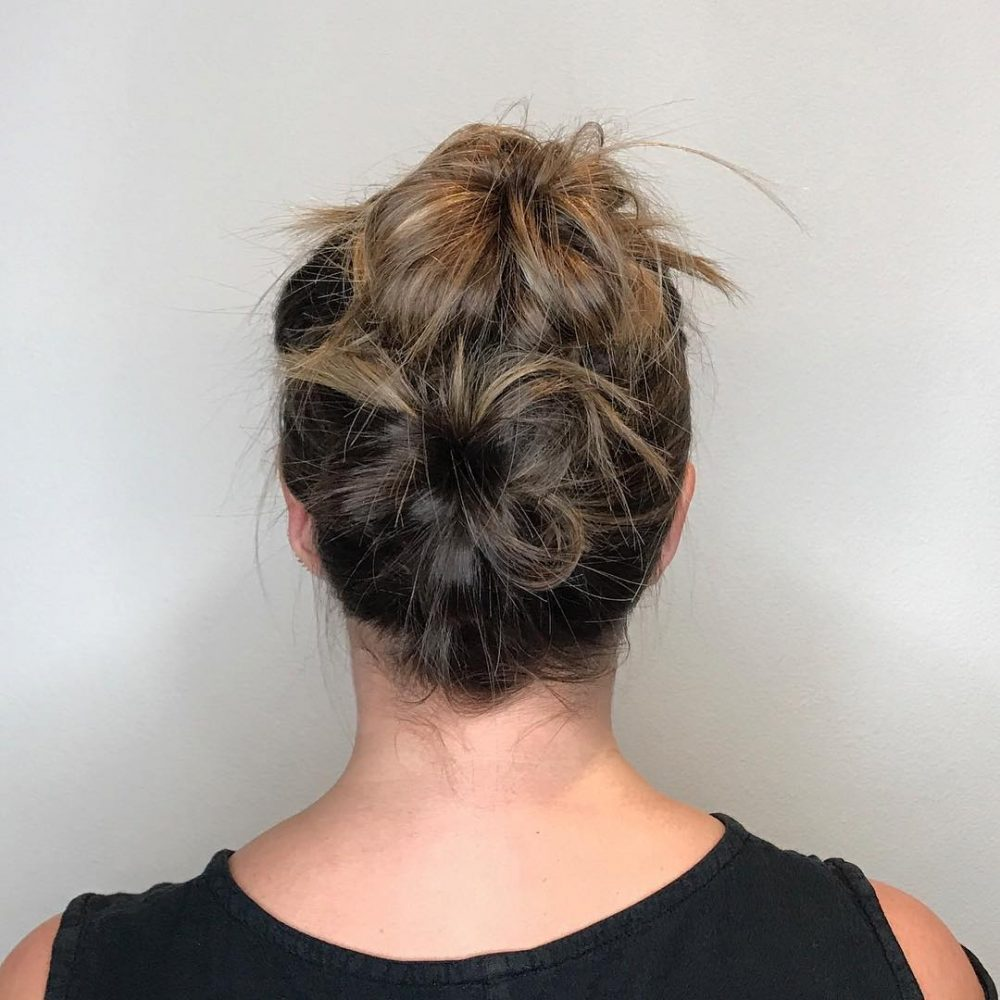 18 Sexiest Messy Updos Youll See In 2019