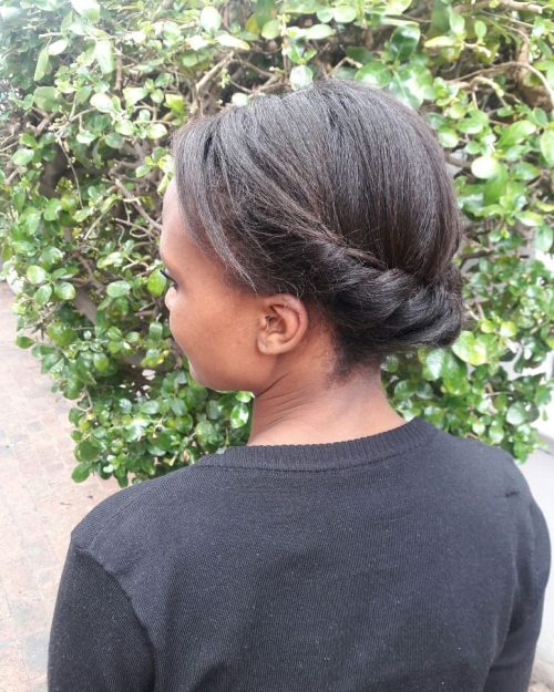 Picture of a quick twist for natural hair formal simple updos