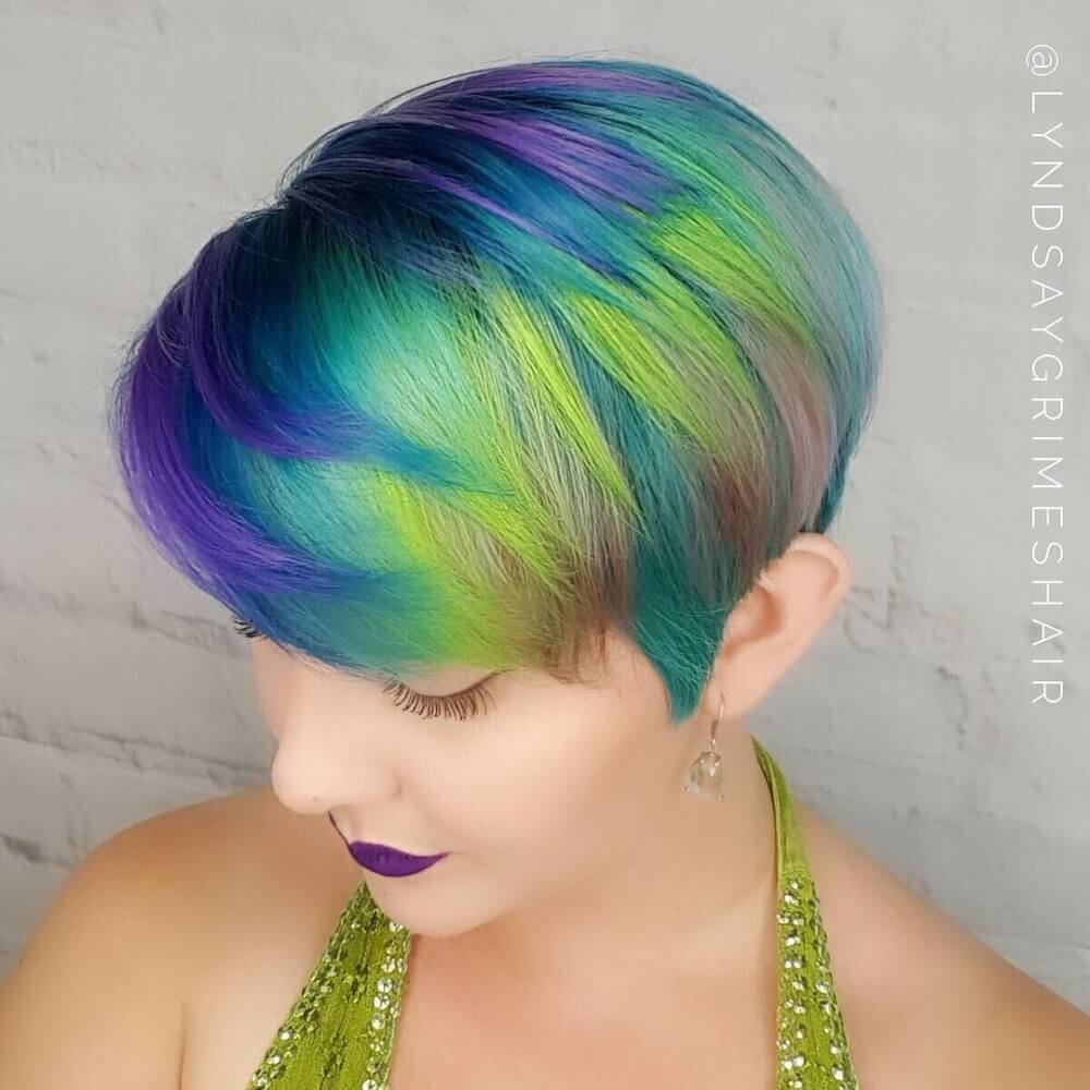 Rainbow Pixie hairstyle