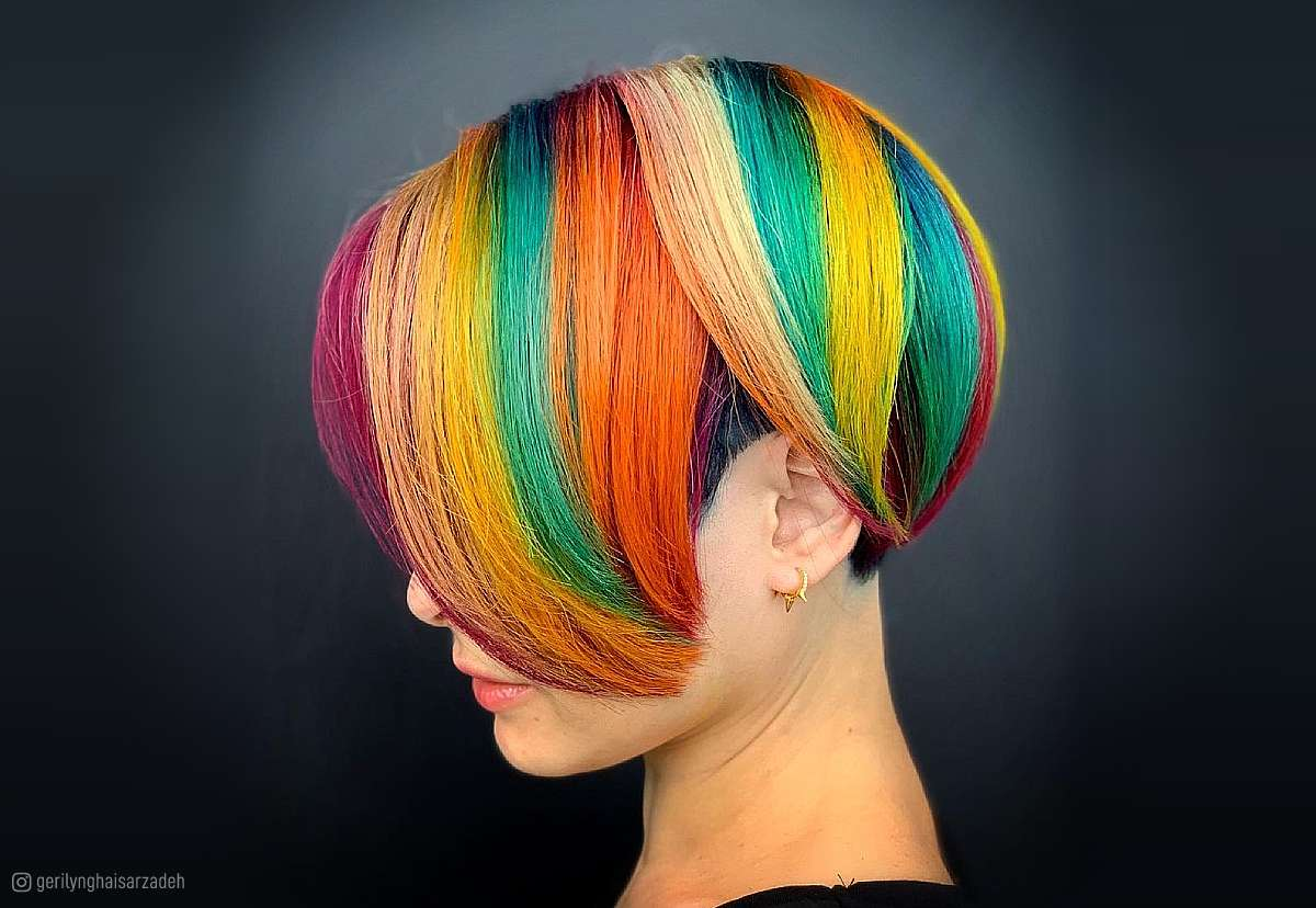 Multi Hair Color Styles: 28 Colorful Rainbow Hair Ideas Trending In 2019