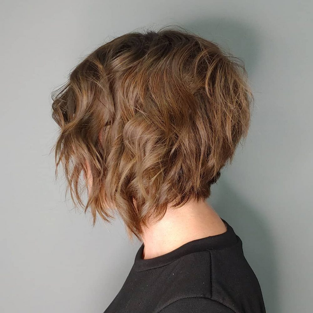 Razored Inverted Bob Cut