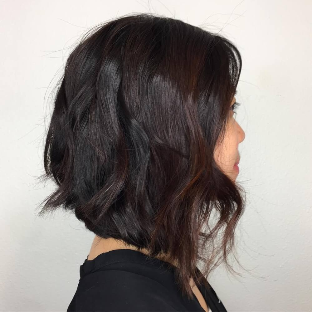 A picture of a medium layered bob