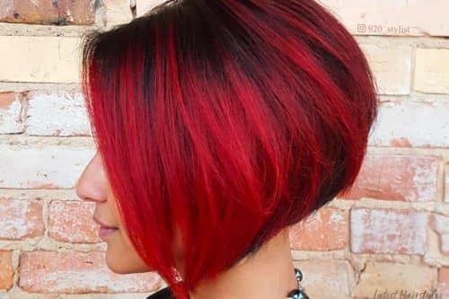 Red and black hair colors