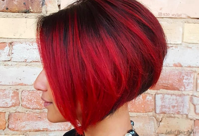 Red And Black Hair Ombre Balayage Amp Highlights