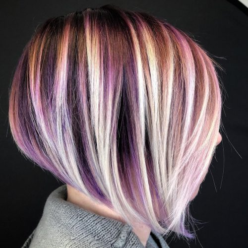 22 Hottest Red Purple Hair Colors Balayage Ombres And