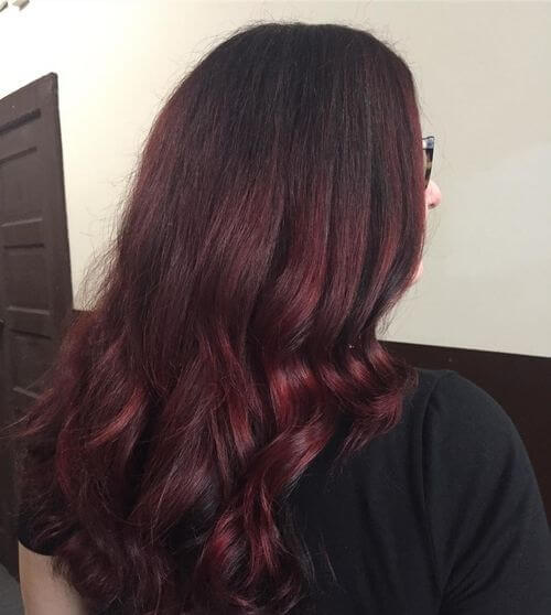 Red Color Melt Hair