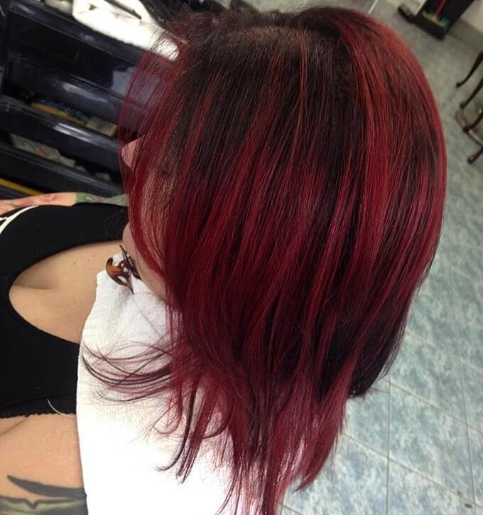 Cool Red hairstyle