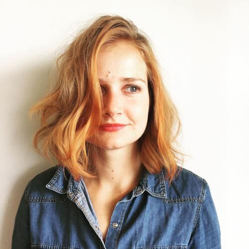 red hair color beachy curls