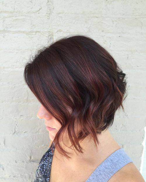 Red hair with auburn highlights