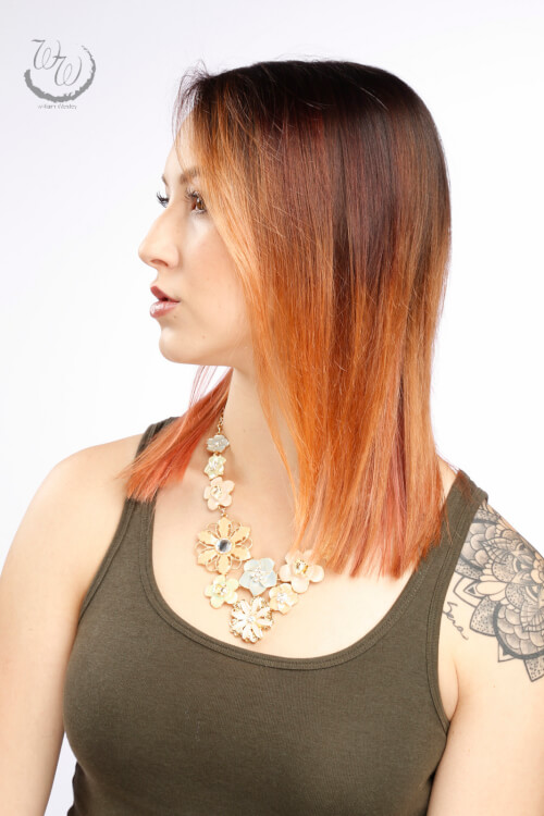 The cutest copper ombre hair color