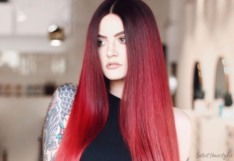 28 Blazing Hot Red Ombre Hair Color Ideas In 2020