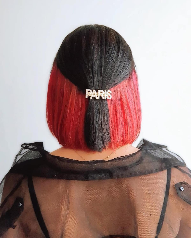 Red Peekaboo Highlights