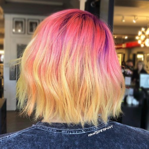 Picture of a red to yellow color melt