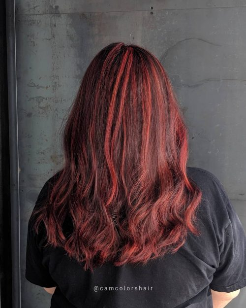 Chocolate brown with red undertone