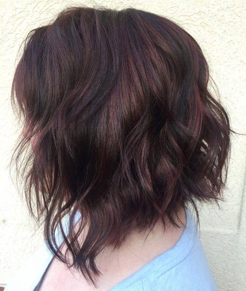 Red Violet Highlights hairstyle