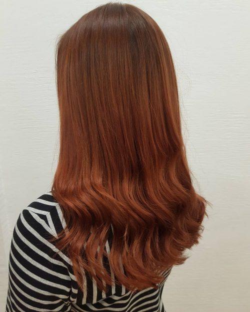 Reddish auburn hair