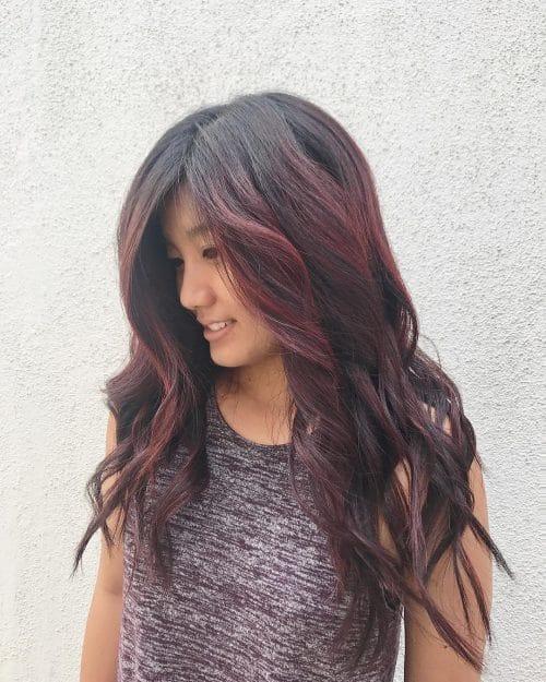 Reddish Brown Waves hairstyle