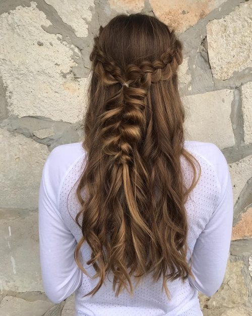 Picture of a remarkable braids for long ash brown hair