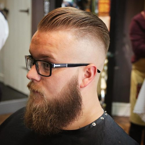 Skin fade quiff haircut for men with thin hair