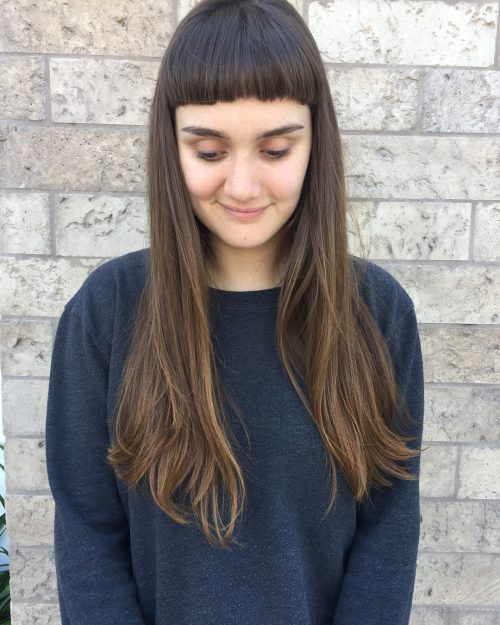 35 Best Long Hair With Bangs for Women in 2018