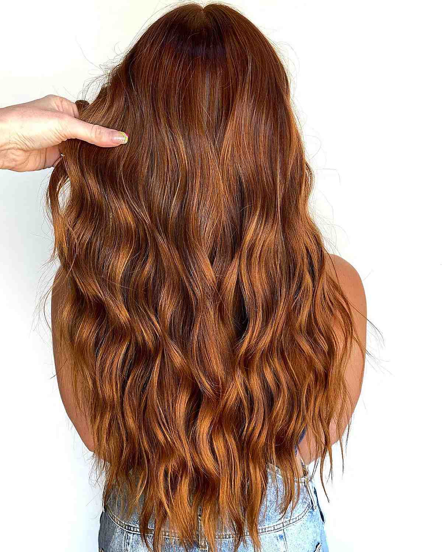 rich auburn hair color for long hair