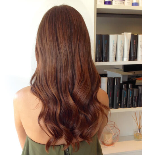rich auburn shimmer hair color