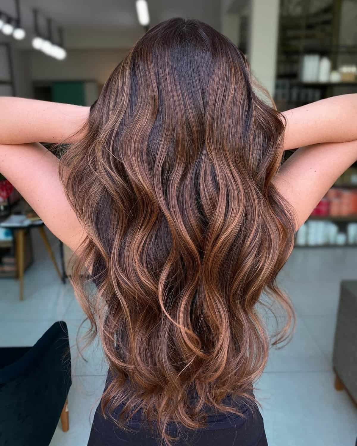 Rich Cocoa chocolate brown Hair Color