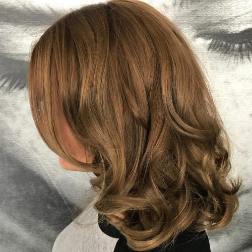 Picture of a beautiful rich toned curls