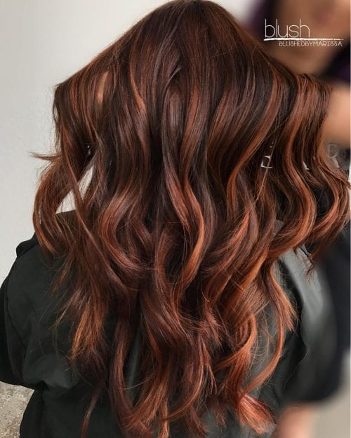 Rich Red Balayage hairstyle