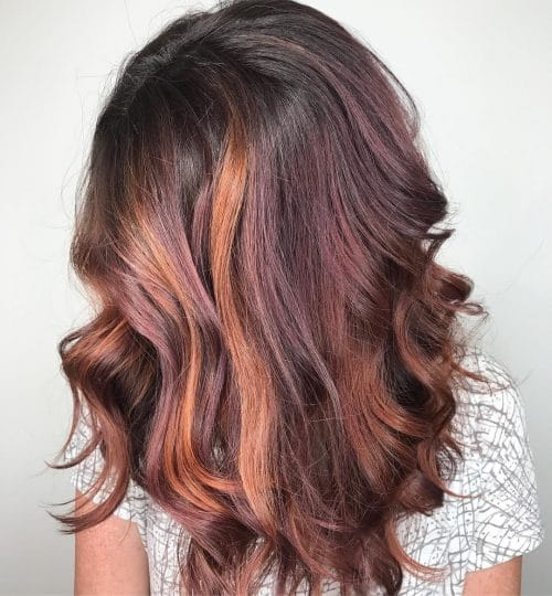 Rich Violet Dramatic Copper Hairstyle