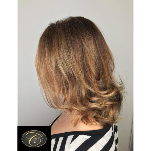 romantic and soft light brown hair