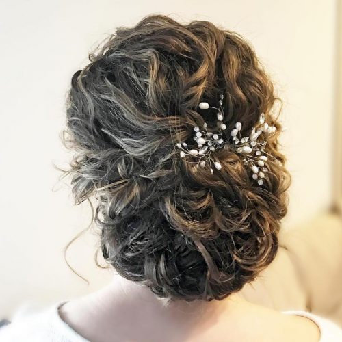 Picture of a romantic chic curly updo