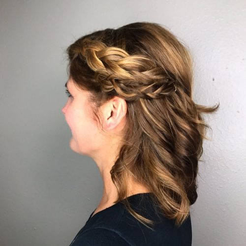 Picture of a romantic casual hairstyle