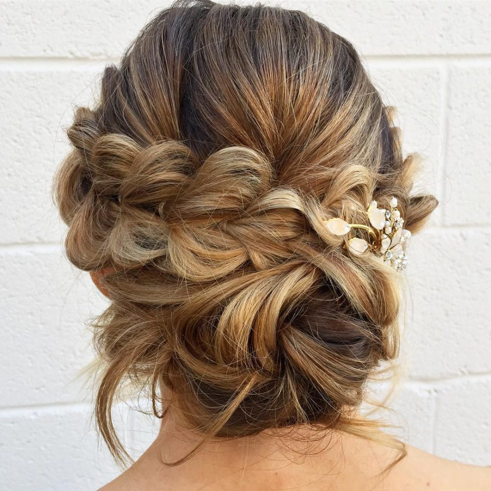 Wedding Hairstyle With Braids: 17 Gorgeous Wedding Updos For Brides In 2019