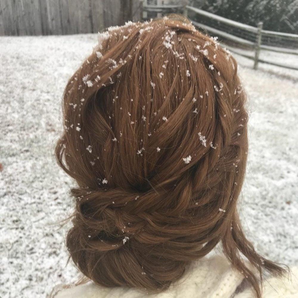 Romantic Textured Chignon hairstyle