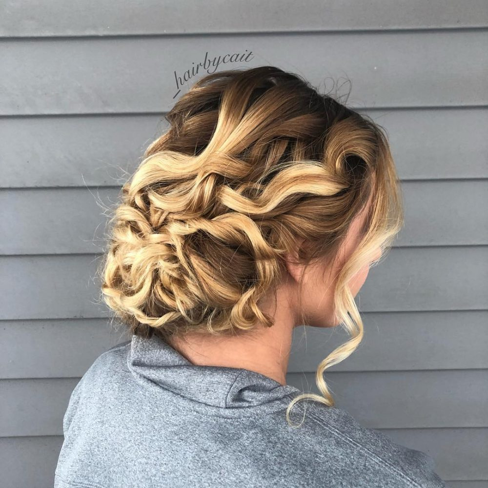 Romantic Transitional Updo hairstyle