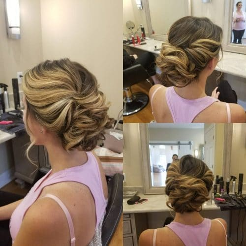 Romantic Contrast hairstyle