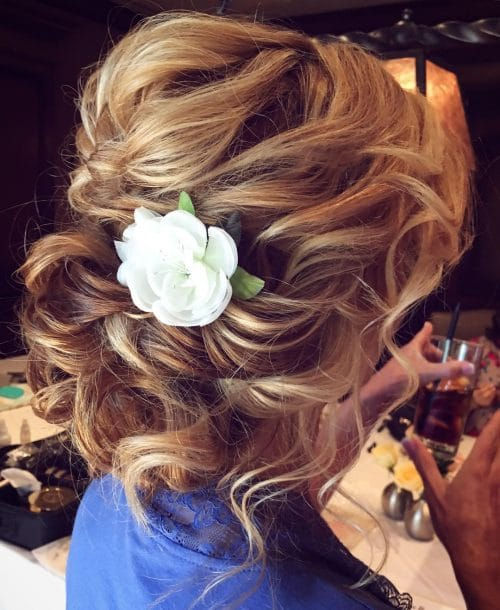 Romantic Curly Updo hairstyle