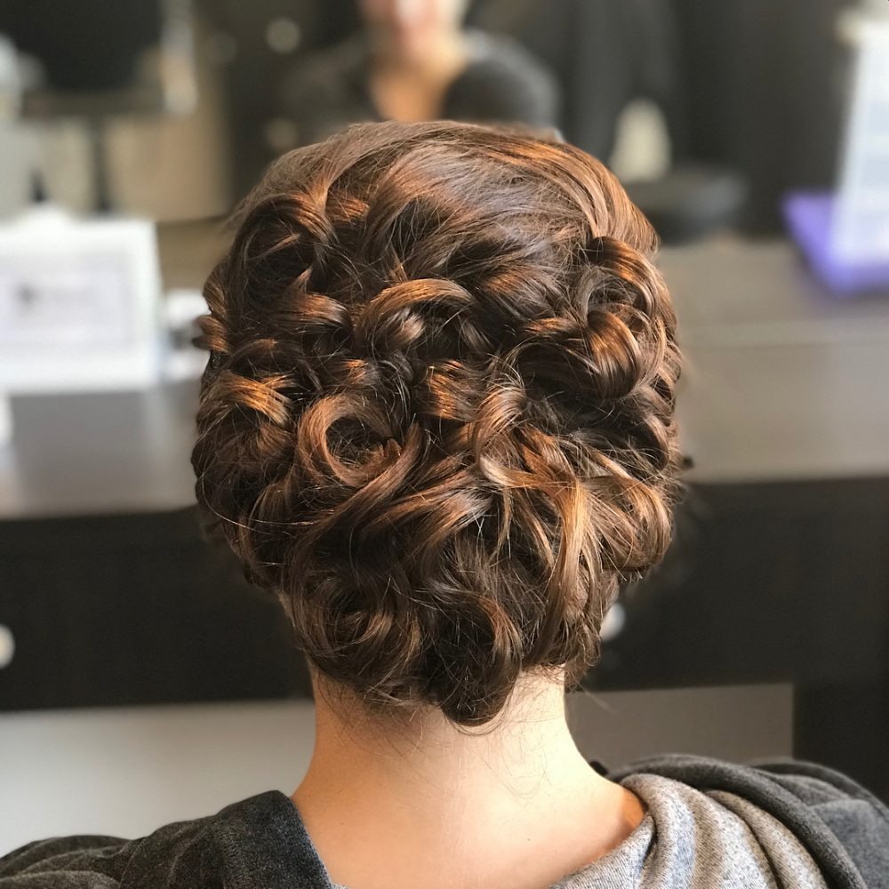 36 Curly Updos For Curly Hair See These Cute Ideas For 2018