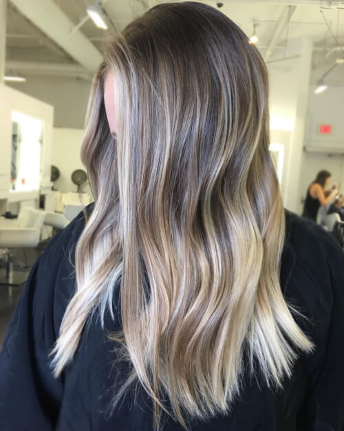 rooted balayage hair color