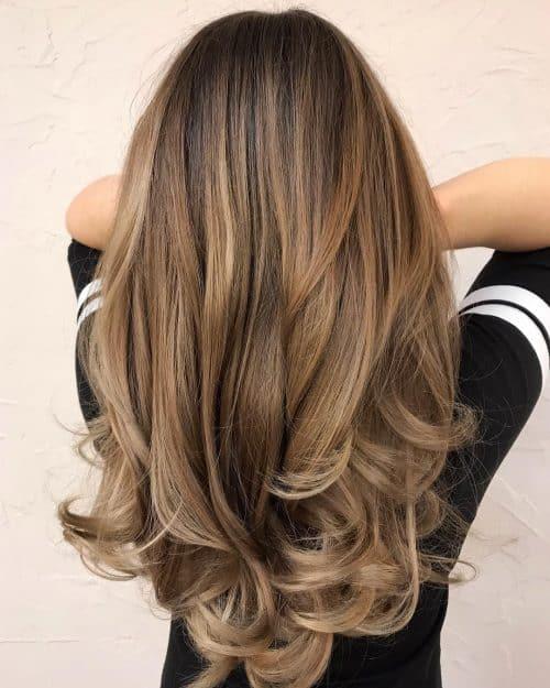 Dark Rooty Caramel Blonde (Bronde)