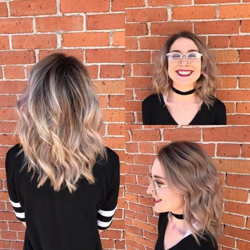 Rooty Ash Blonde hairstyle