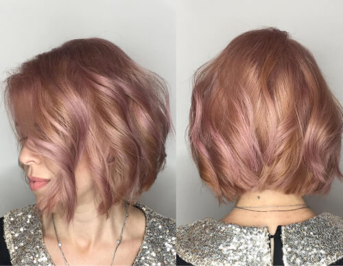 rose and gold hair color